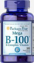 Комплекс витаминов группы B, Puritan's Pride Vitamin B-100® Complex 100 Caplets