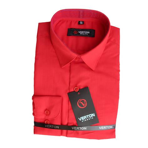 Рубашка для мальчика приталенная красная длинный рукав Verton, фото 2