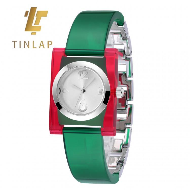 Часы женские Tinlap Quadratic Green