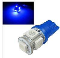 Led лампы в габарит подсветка номера Синий цвет W5W, Т10 5Leds 5050SMD, 12V .