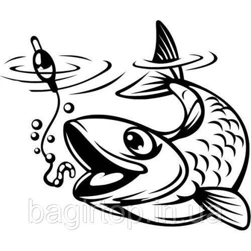 Виниловая наклейка - рыба 7