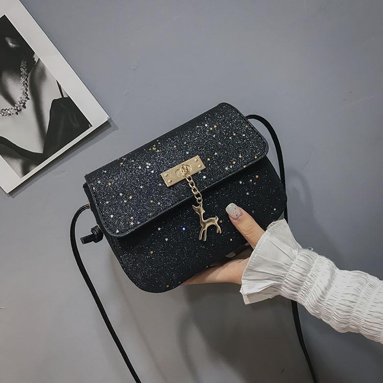 3a42d30e1a4a Мини сумочка Melani с оленем, легкая блестящая черного цвета ...