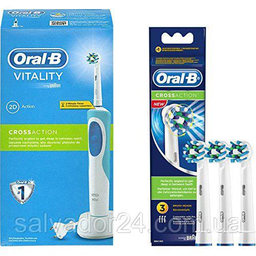 Cross Action EB50 (3 штуки), насадки для зубной щетки Oral-B Braun