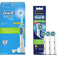 Cross Action EB50 (3 штуки), насадки для электрической зубной щетки Oral-B
