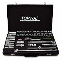 """Набор инструмента комбинированный 1/2"""" (короткие+длинные головки) (GCAD4102) TOPTUL"""