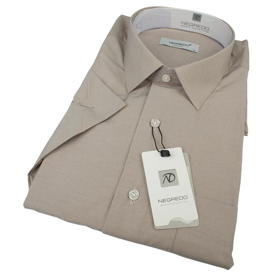 Турецкая мужская рубашка Negredo 0310 H Classic С размер ХL в мелкую полоску