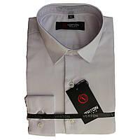 Рубашка для мальчика приталенная белая  длинный рукав Verton