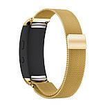 Міланський сітчастий ремінець Primo для фітнес браслета Samsung Gear Fit 2 / Fit 2 Pro (SM-R360 / R365) - Gold L, фото 3