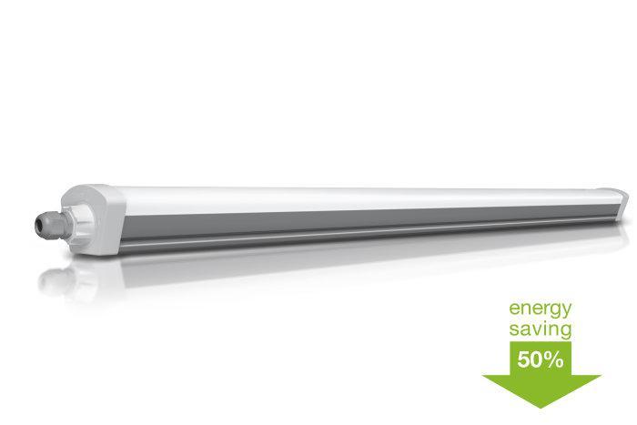 Светодиодный светильник LED SLIM 50W 4000K 5500Lm IP65 1500мм OSRAM герметичный, промышленный