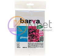 Фотобумага Barva, глянцевая, A6 (10x15), 230 г/м2, 20 л (IP-CE230-216)