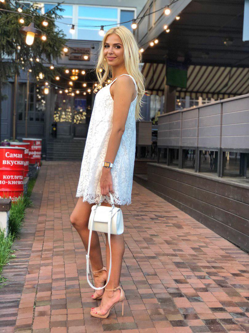 1a7c721ea44 Короткое вечернее платье из итальянского кружева - Solodkova в Харькове
