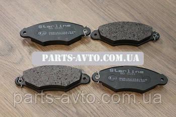 Колодки тормозные передние Renault Kangoo Starline BDS181, 7701205513, 7701205995, 7701206811