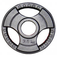 Диск (стальной) для штанги 2,5 кг трехлепестковый