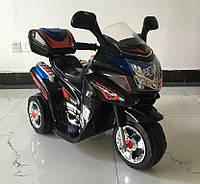 Детский электромобиль T-724 BLACK мотоцикл, черный