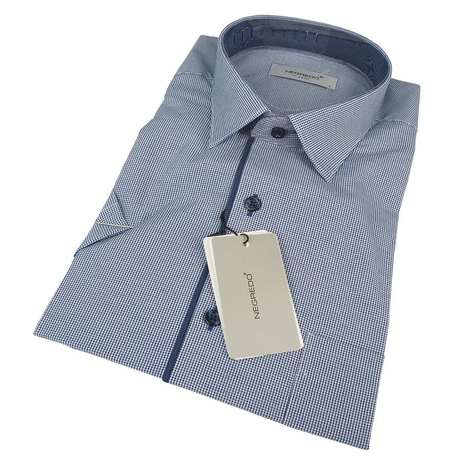 Мужская летняя рубашка Negredo 0310 H Classic С размер М в светло-синих оттенках