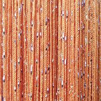 Шторы нити Оранжевые Серебро / Дождь №3