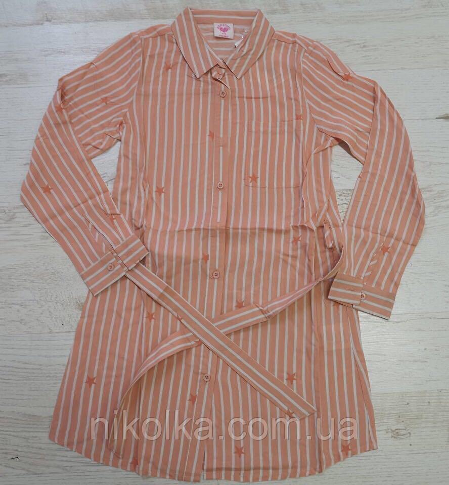 Рубашка для девочек оптом, Glo-story, 110-160 рр., Арт. GCS-6196