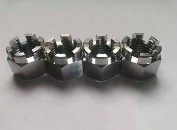 Гайка корончатая М27 ГОСТ 5918-70, DIN 935 из нержавеющей стали А2 и А4, фото 2
