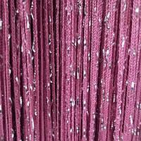 Шторы нити Дождь №6 Фрезовый / Серебро