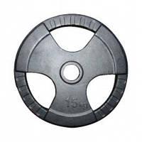 Диск (стальной) для штанги 15 кг трехлепестковый