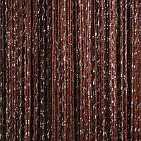 Шторы нити Шоколадные Серебро / Дождь №8, фото 1