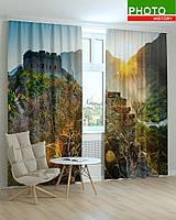 Фотошторы пейзажи замок в горах