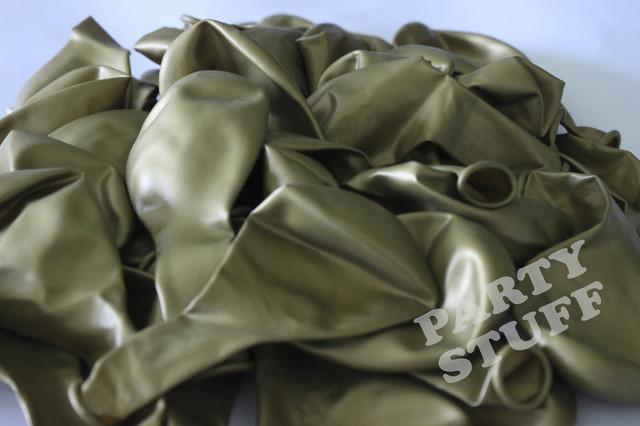 Надувной шар металлик сатин золотой