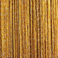 Шторы нити Дождь №16 Золото / Серебро