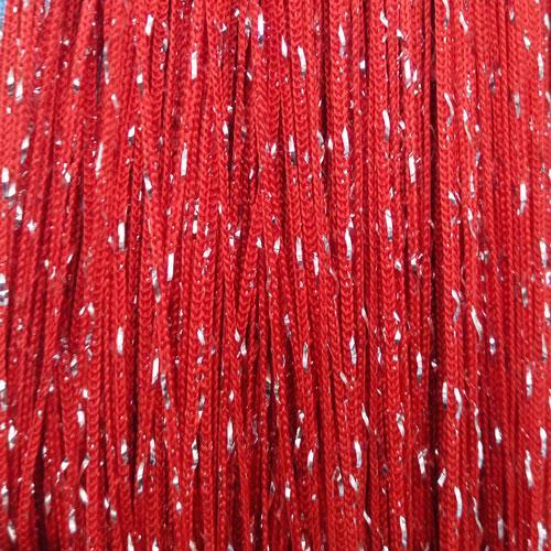 Шторы нити Красные Серебро / Дождь №17
