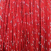 Шторы нити Дождь №17 Красный / Серебро