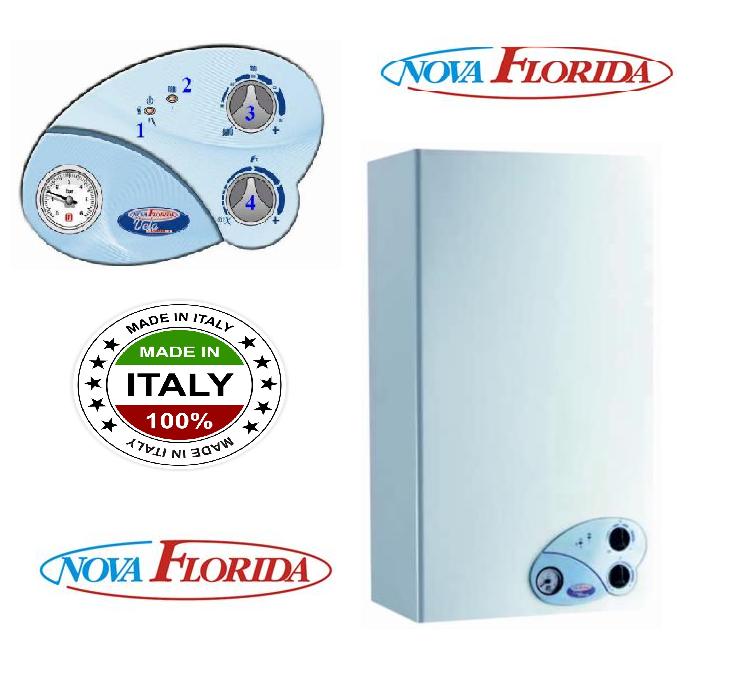 Котел газовый двухконтурный (настенный) Nova Florida Vela Compact CTFS 24 AF (турбированный)