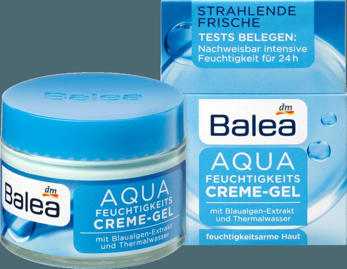 Дневной увлажняющий крем - гель Balea Aqua Tagespflege Feuchtigkeits-Cremegel, 50 ml.