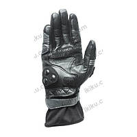 Мотоперчатки кожаные SCOYCO MC13 (кожа,PL, закрытые пальцы,р-р M,L,XL, серо-черный) M