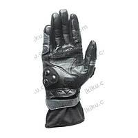 Мотоперчатки кожаные SCOYCO MC13 (кожа,PL, закрытые пальцы,р-р M,L,XL, серо-черный) L