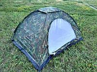 Палатка четырехместная 2*2,5 м водонепроницаемая для кемпинга, туризма и рыбалки, цвет Хаки R17759, фото 1