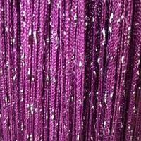 Шторы нити Дождь №205 Фиолетовый / Серебро