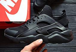 Кроссовки Nike Air Huarache Ultra Black. Живое фото. Топ качество! (Реплика ААА+)