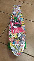 Скейт MS301310 пенні, ПУ колеса, алюмінієва підвіска, підшибник ABEC-7, розміри 56,5-15 см.