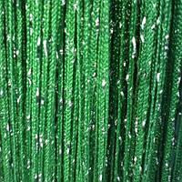 Шторы нити Тёмно зелёные Серебро / Дождь №211, фото 1