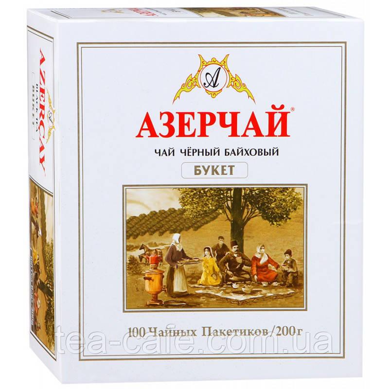 """Чай чорний """"АЗЕРЧАЙ"""" БУКЕТ, 100 пак"""
