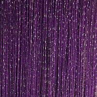 Шторы нити Дождь №212 Тёмно Фиолетовый / Серебро
