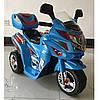 Детский электромобиль T-724  BLUE мотоцикл, голубой