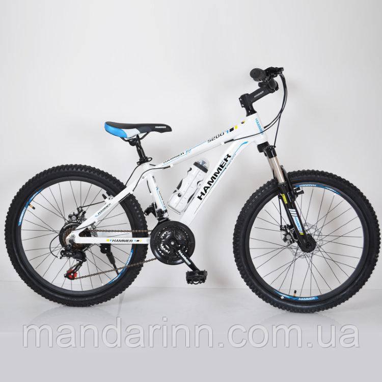 """Горный велосипед 24"""" HAMMER Бело-Синий (white-blue)"""