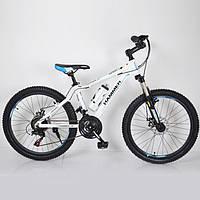 """Горный велосипед 24"""" HAMMER Бело-Синий (white-blue), фото 1"""
