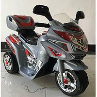 Детский электромобиль T-724  GRAY мотоцикл, серый