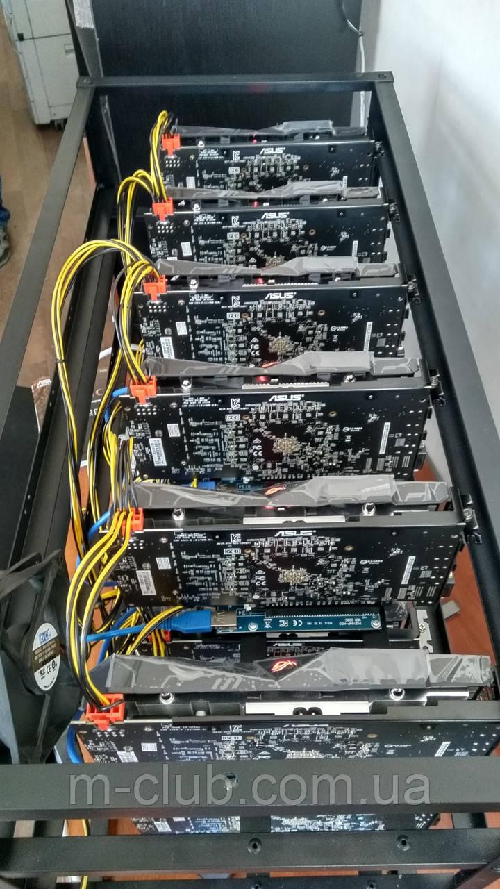 Майнинг ферма 6 (+6) карт AMD Radeon RX 570 8Gb наличие Харьков собрана работает Rig