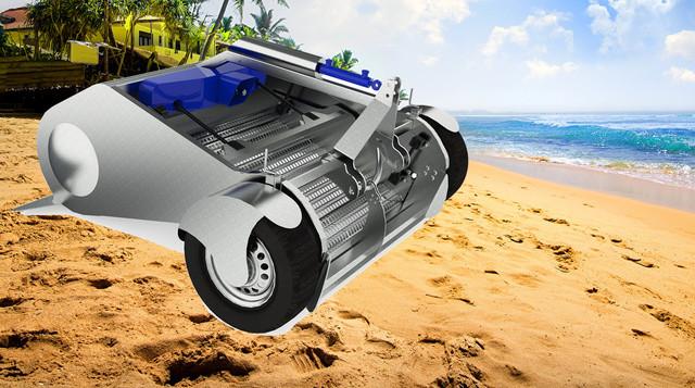 Пляжеприбиральні машини. Машины для очистки песка на пляже