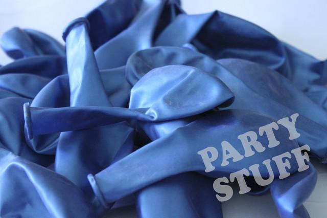 Шарики надувные голубой металлик