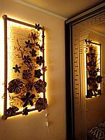 Декоративное панно картина светильник на стену