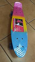 Скейт MS301311 пенні, ПУ колеса, алюмінієва підвіска, підшибник ABEC-7, розміри 56,5-15 см.